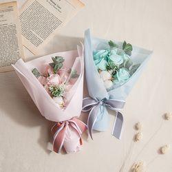 파스텔 비누장미 꽃다발