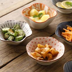 일본풍 도자기 찬기 반찬 접시 종지 소스용기 D형 2p