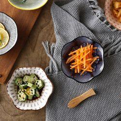 일본풍 도자기 찬기 반찬 접시 종지 소스용기 C형 2p