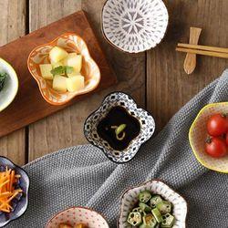 일본풍 도자기 찬기 반찬 접시 종지 소스용기 B형 1p