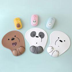 위베어베어스 저소음 무선 마우스 & 손목보호 마우스패드세트