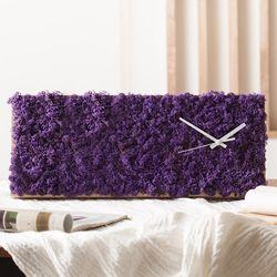 공기정화식물 가든 원목 벽시계(60x25cm) - 퍼플