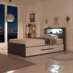 BZ 맘모스 침대 헤드형(LED램프 콘센트 포함)