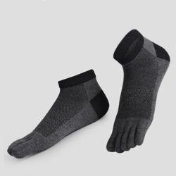 포인트 남성 발가락 양말(블랙)