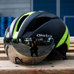 에어로 고글 자전거헬멧+미러고글블랙그린(무광)