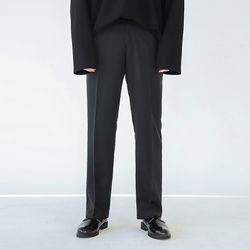 AND LONG WIDE SLACKS (BLACK)
