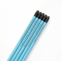 메시지 각인 - Ocean Blue 원목연필 5본세트