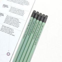 메시지 각인 - Avocado 원목연필 5본세트