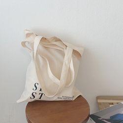 slowstitch simple loge bag ( ivory )
