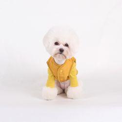 퀄팅 패딩 베스트 Quilting padding vest Mustard