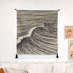 서핑 드로잉 패브릭 포스터.가리개 커튼 (행잉L)