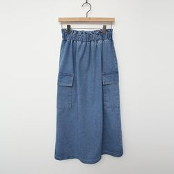 Pocket Denim Long Skirt