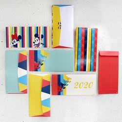 디즈니 미키마우스 색동 봉투세트