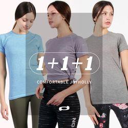 여성 필라테스 요가 스포츠 기능성 운동복 A 3종 반팔 티셔츠