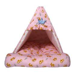 강아지쿠션 하우스 스위티 프렌즈베어 하우스(핑크)