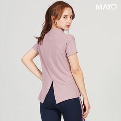 백트위스트 언발티셔츠 핑크
