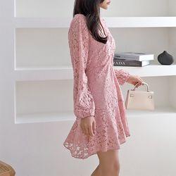Lace Flare Mini Dress