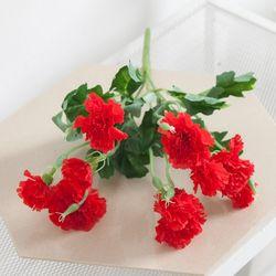 퓨어카네이션부쉬o 34cm 조화 꽃 성묘 장식 FAIAFT