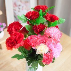 심플카네이션부쉬o 30cm 조화 꽃 성묘 장식 FAIAFT