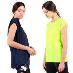여성 빅사이즈 요가복 상의 루즈핏 필라테스 티셔츠 ELLIE