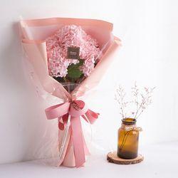 수국 조화 꽃다발(핑크)