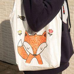 민화샵 방수 휴대용 에코백 장바구니 DIY