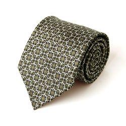브라운 기하학 패턴 남자 넥타이