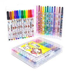 4720 컬러링키트12색색연필&12색싸인펜세트
