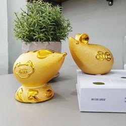 황금 재물 복 쥐 저금통