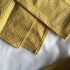 옐로우 체크 테이블 매트(Yellow check table mat) - S