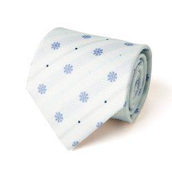 화이트 블루 플라워 패턴 남자 넥타이
