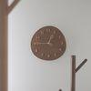 바나나 몽글잎새 월넛 무소음 인테리어 벽시계