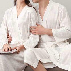 고급 호텔 와플 목욕가운 샤워랩가운 극세사 공용 커플잠옷