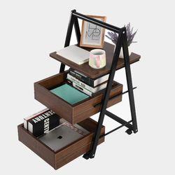 침대사이드테이블 이동식 슬라이딩 수납 사이드테이블