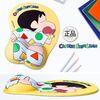 파자마 짱구 엉덩이 손목 보호 마우스 패드(p)