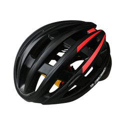 CoolChange 후미등 장착 자전거헬멧RED BLACK