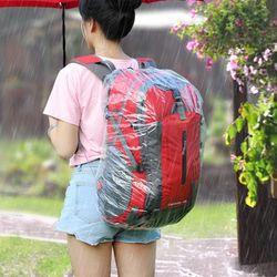 가방 방수 비닐 커버 여행 등산가방 백팩 레인 우비 덮개