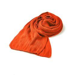 2미터 길이 오렌지 머플러 주황색 숄
