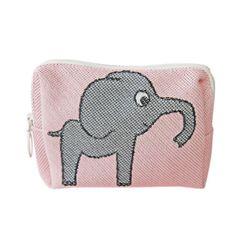 파우치M 코끼리 핑크