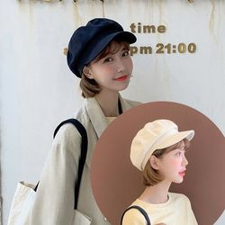쿠코 여성 팔각모자 화가모자 빵모자 패션모자
