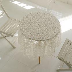 리븐 레이스 원형 테이블커버 식탁보 R150
