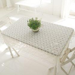 리븐 레이스 사각 테이블커버 식탁보 120x120