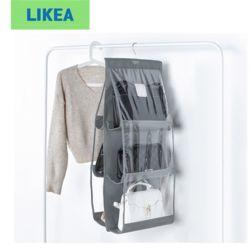 LIKEA 가방전용 6칸 페브릭 걸이형 틈새수납 정리함