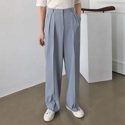 Joan Pintuck Wide Pants