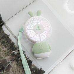 포포팬시 쿨라이트 LED 휴대용 선풍기 래빗