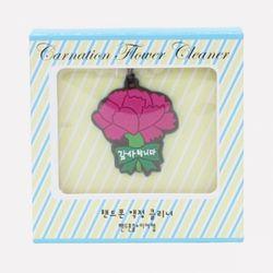 포포팬시 카네이션 액정 클리너 핸드폰줄 꽃 2p