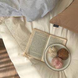 디어딜라잇 체크 호텔침구-크림아이보리 퀸 기본세트