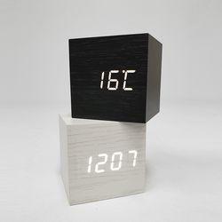LED 큐브우드 탁상시계 무소음 led시계 인테리어