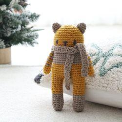 램스울 고양이 인형 코바늘 애착인형 DIY 키트