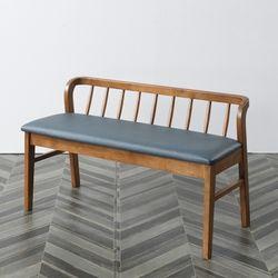 현대가구 고무나무 원목 2인용 식탁 벤치의자 까페 벤치의자